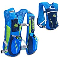 AONIJIE Hydration Pack Backpack 5.5L 6 Pockets Volume Marathoner Running Race Hydration Vest Running Hiking Backpack with Hydration Pack