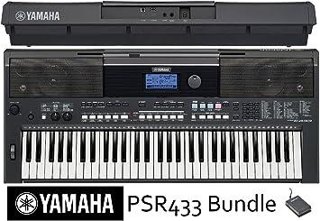 YAMAHA PSR E433 Bundle – Teclado (con pedal y adaptador de ...