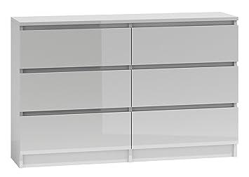 Worldtrade 100 Gross Weiss 6 Schubladen Schlafzimmer Kommode 120 Cm