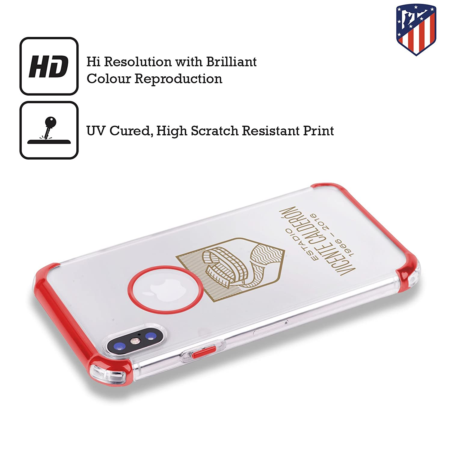 Amazon.com: Official Atletico Madrid Red Various Designs Red ...