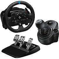Logitech G G923 Volante y Pedales de Carrera, TRUEFORCE, Embrague Dual, para Xbox y PC y Palanca de Cambio para Volante…