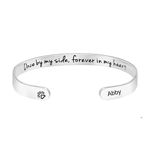 Awegift Pet Sympathy Gifts for Dogs Memorial Jewelry Sympathy Gift for Loss of Pet Name Engraved