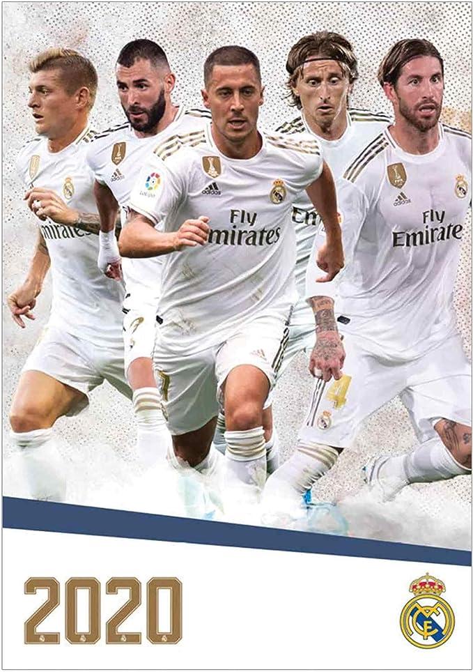A3 2021 Football Calendar Official Real Madrid La Liga