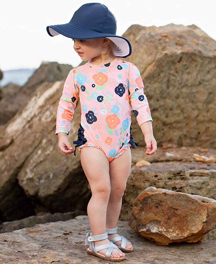 Sun Protection Floppy Wide Brim RuffleButts Baby//Toddler Girls Baby Sun Hat UPF 50