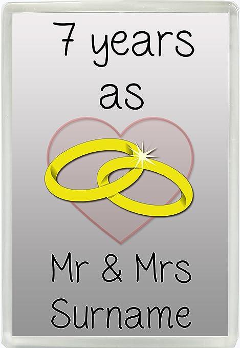 Anniversario Di Matrimonio 7 Anni.Personalizzabile Con Qualsiasi Nome 7 Anni Come Mr Mrs Jumbo
