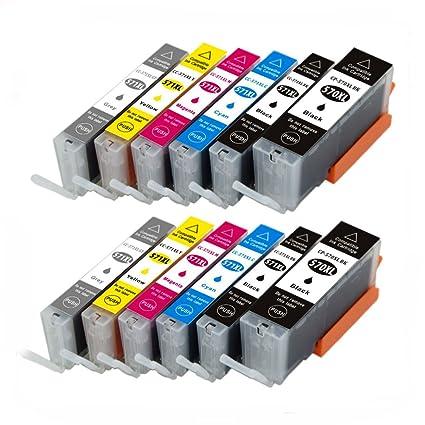 12 x caidi Compatible para Canon PGI-570 CLI-571 cartucho de tinta ...