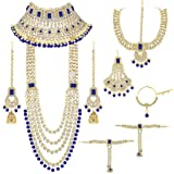 Aheli Ethnic Indian Traditional Bollywood Fashion Kundan Bridal Jewelry Set with Choker Earrings Maang Tikka Hathphool…