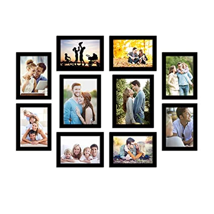 Art Street Photo Frame For Wall Set of 10 Black Picture Frame For Home and Office Decoration Eco Series-Size -5x7 ,6x8 Inches (ASPWTECO23274)