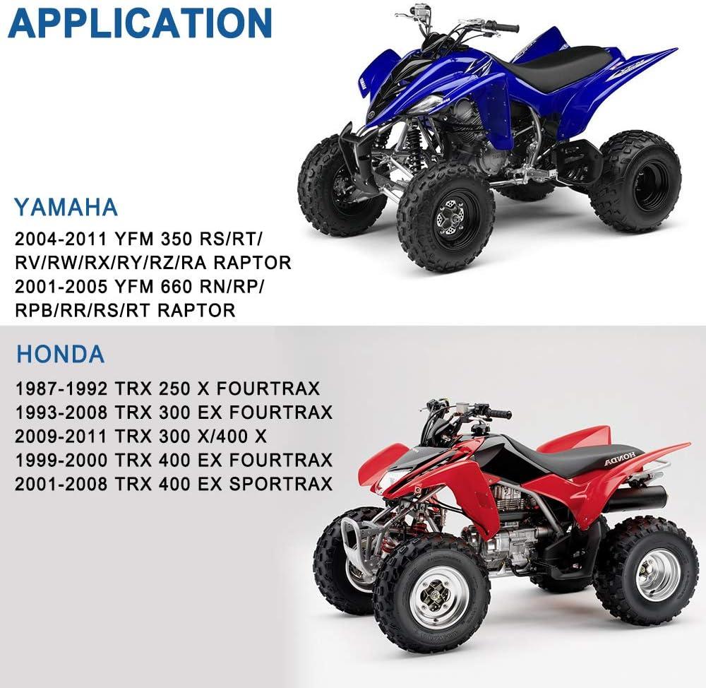 ECCPP Kevlar Pastillas de Freno Delanteras + traseras para Honda Fourtrax 300 Sportrax 400 TRX400 X Yamaha Raptor 350 Raptor 660R FA84