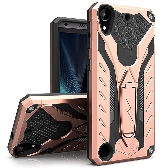 newest b70da cd156 HTC Desire 530 Case, Zizo [Static Series] Shockproof [Military Grade Drop  Tested] w/Kickstand [HTC Desire 530 Heavy Duty Case] HTC Desire 550/555