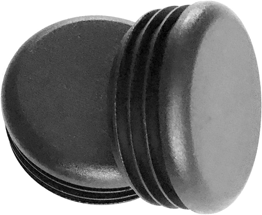 """(Pack of 10) 2"""" Round Cap Plugs (14-20 Gauge 1.84""""-1.93"""" ID) Fencing Post Tubing Plugs, 2 Inch End Caps - Steel Furniture/Chair Leg Pipe Tube Inserts 