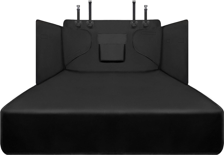 Alfheim Funda para Maletero de Coche para Perros - Protector de asiento antideslizante impermeable para mascotas - Viaje lavable duradero de la cubierta de la bota universal para el camión/SUV (Negro)