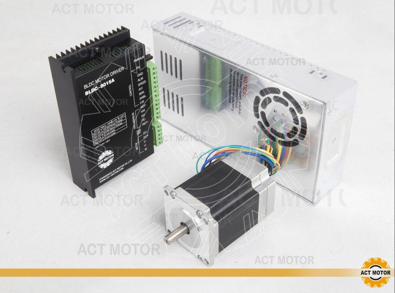 ACT MOTOR GmbH 1Axis 57BLF01 3000RPM 63W+Driver BLDC-8015A-5+PSU 350W 24V