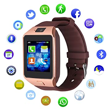 Kivors® DZ09 Bluetooth SmartWatch Montre Connectée Support SIM Card TF Podomètre pour Smartphone Android