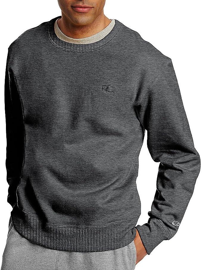 Champion Men's Powerblend Pullover Hoodie, Granite Heather