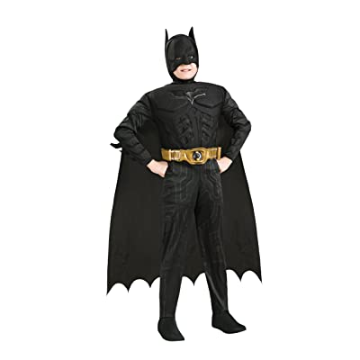 Rubie\'s Batman: The Dark Knight Trilogy Child\'s Deluxe Muscle Chest Batman Costume, Small: Toys & Games [5Bkhe1401575]