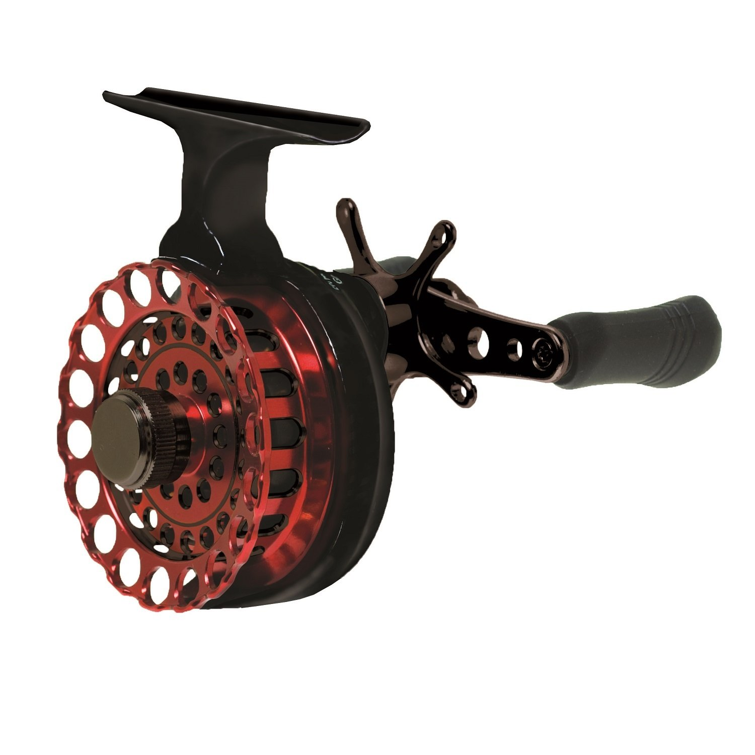 Eagle Claw In Line Ice Reel, Black/Red