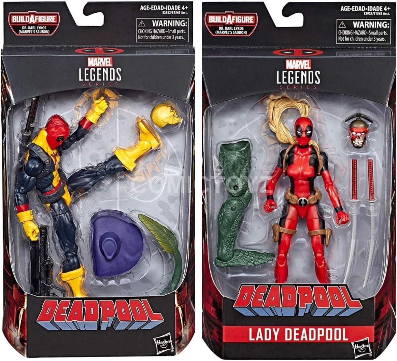 COMICTOYZ Marvel Legends Deadpool (X Men T-Shirt) Action Figure and Lady Deadpool Action Figure Two Pack: Amazon.es: Juguetes y juegos