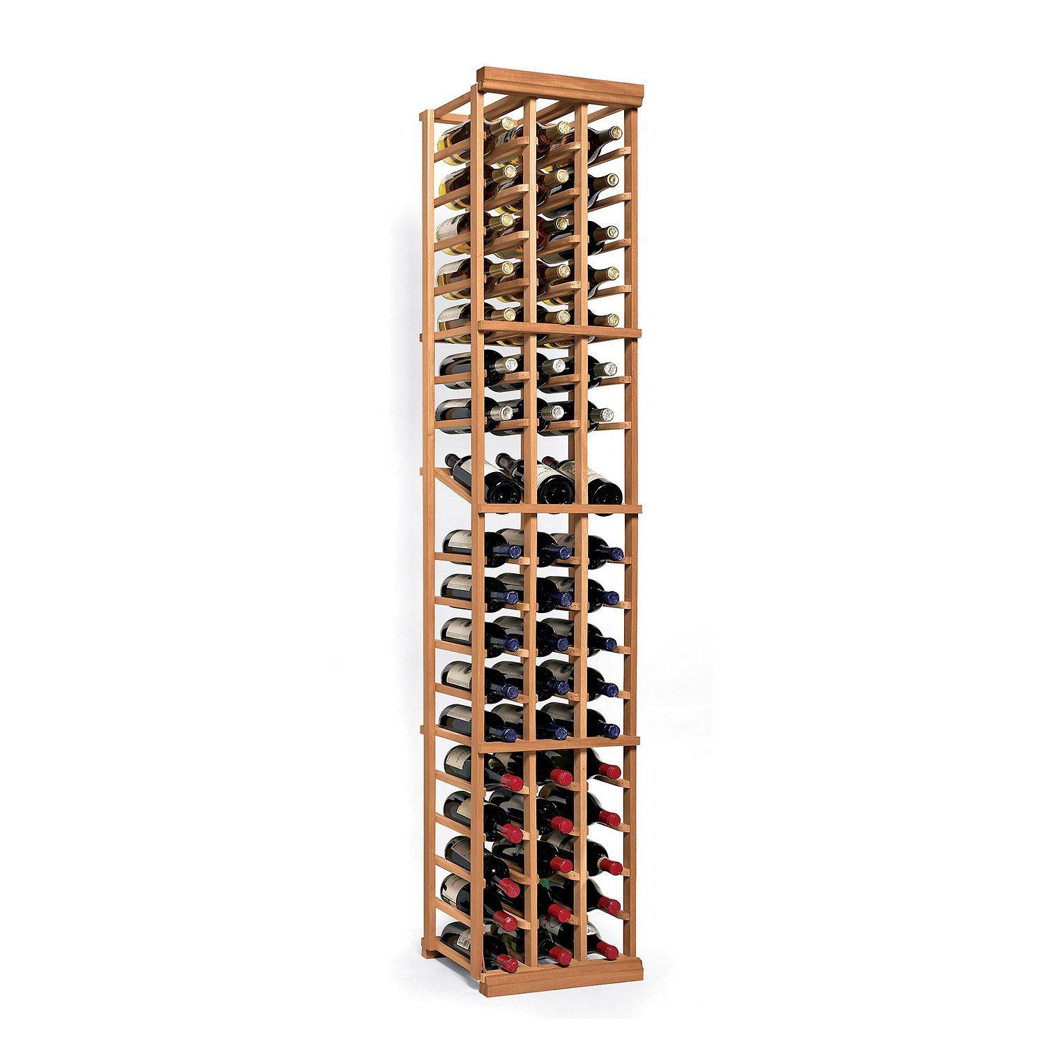 N'FINITY Wine Rack Kit - 3 Column with Display - Natural Finish - Solid Mahogany by N'FINITY