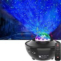 LED Star Projector,OxyLED Roterende Ocean Wave Sterrenhemel Nachtlampje,Kleur Veranderende Muziekspeler met Bluetooth…
