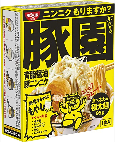 日清 豚園 背脂醤油豚ニンニク 164g ×8個