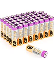 Lot de 40 Piles AA 1.5V / LR6 / Mignon / MN1500 / AM3 de GP Batteries