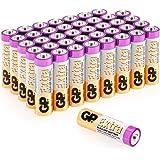Lot de 40 Piles AA 1.5V / LR6 / Mignon / MN1500 / AM3 de GP Batteries