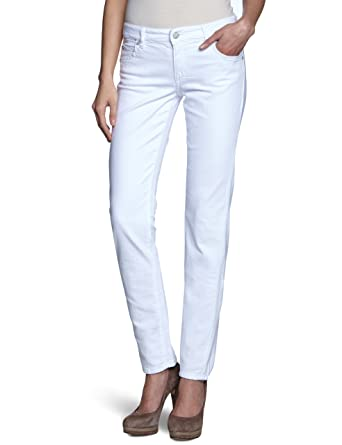 Marc O'Polo Women's Skinny Fit Jeans White Weiß (100