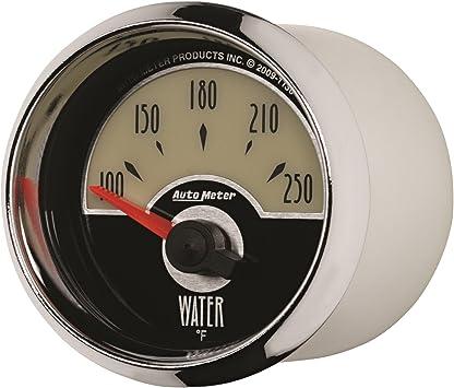 Auto Meter 1238 Designer Black II 2-1//16 Short Sweep Electric Water Temperature Gauge