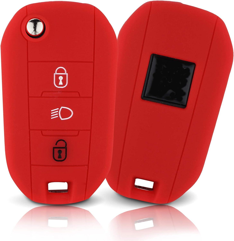 Asarah Premium Silikon Schlüsselhülle Geeignet Für Citroen Schutzhülle Autoschlüssel Cover