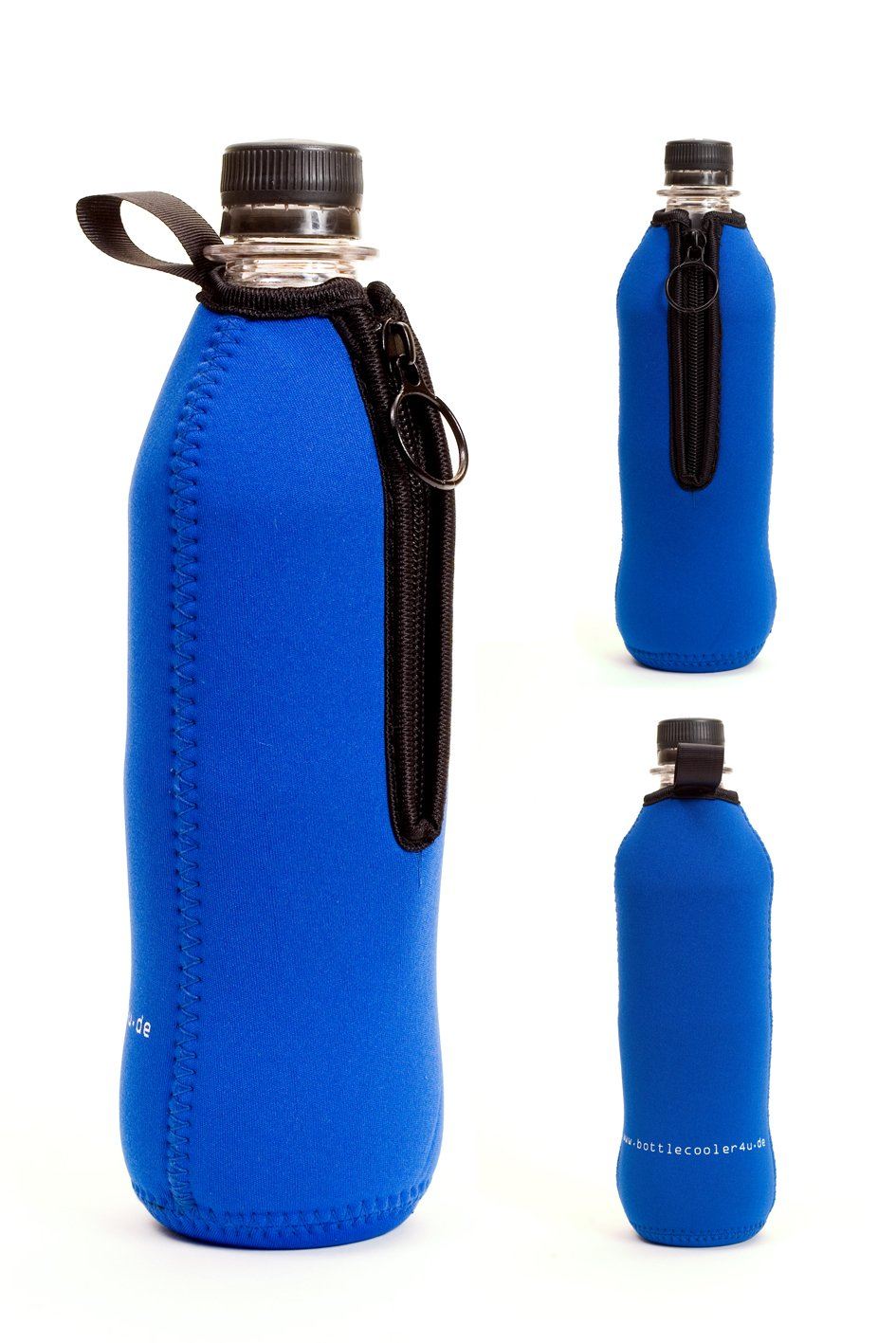 bottlecooler4u Flaschenkühler Neopren 0, 5 Liter 5 Liter (Blau) Brand of Europe gmbH