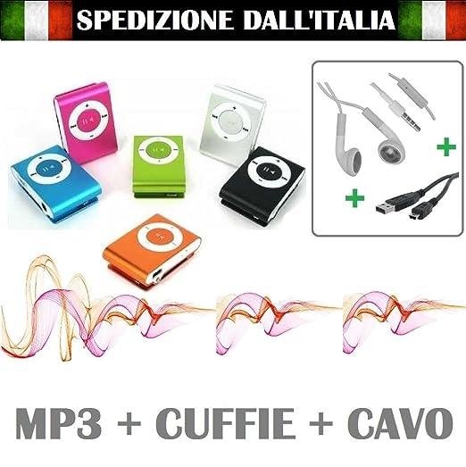 229 opinioni per MINI LETTORE MP3 CON CUFFIE E CAVO USB MEMORIA FINO 8 GB