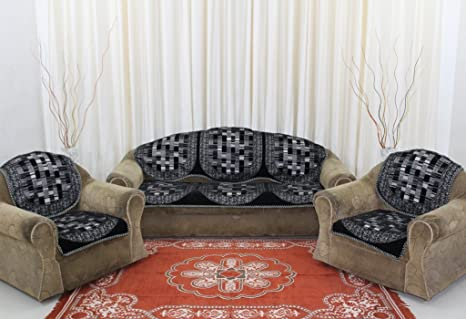Super Buy Bhavya Velvet Sofa Cover Set Of 06 Pcs For 5 Seater Sofa Gmtry Best Dining Table And Chair Ideas Images Gmtryco