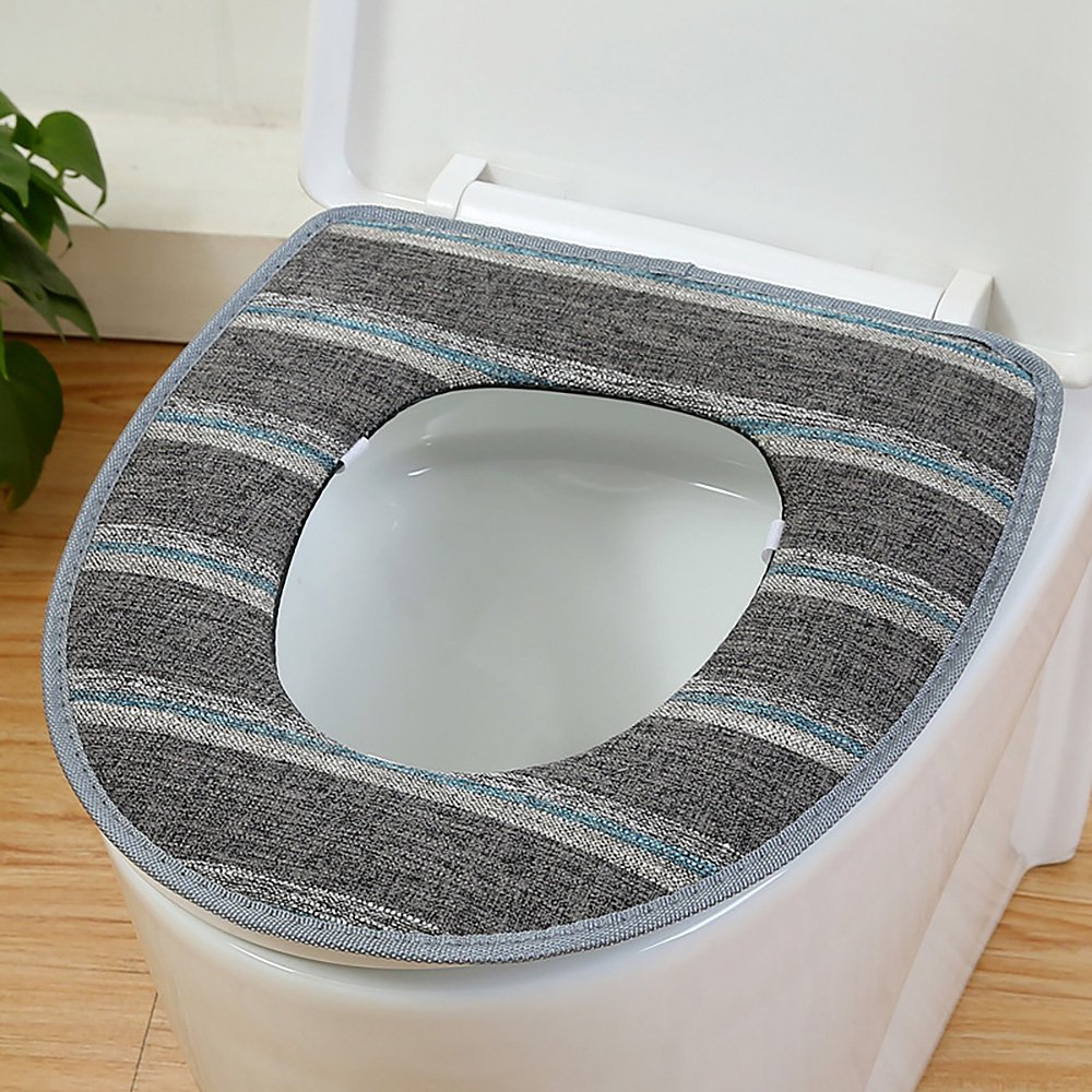Daycount/® Soft Toilet Mat Soft Warm Toilet Seat Heated Closestool Pad Washable Toilet Seat Cover Bathroom Product Grey