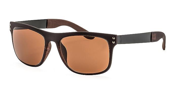 Filtral Sonnenbrille in Holzoptik/Eckige Sonnenbrille für Herren mit flexiblen Federbügeln F3024308 TRmhZohWLs