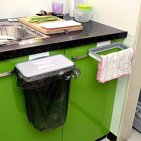 Müllsack Halter Abfall Lagerschrank über dem Tür Zahnstangen Weiß
