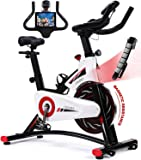 Exercise Bike, CHAOKE Indoor Cycling Bike, Stationary Bike Magnetic Resistance Whisper Quiet for Home Cardio Workout…