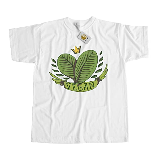 Vegan Lifestyle Camiseta with Leaves and Crown, Proud Vegan Shirt Unisex