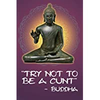 Try Not To Be A Cunt - Buddha: 108-page Funny Swear Word Journal, Inspirational Profanity Sarcasm Humor Notebook For Adults