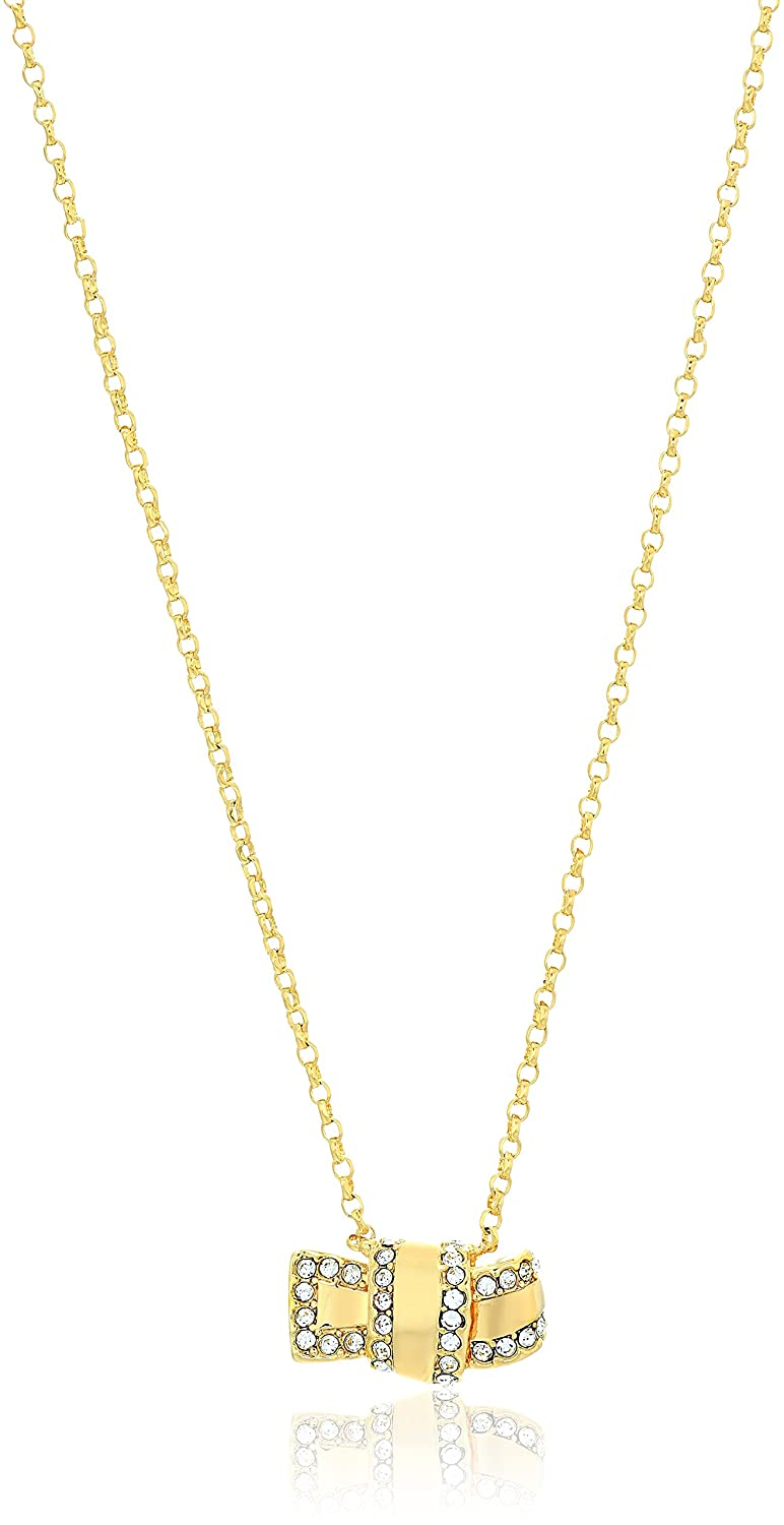 Kate Spade New York Womens All Tied Up Pave Knot Mini Pendant Necklace kate spade jewelry WBRUE548921