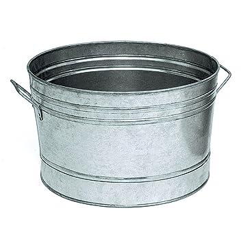 Amazon.Com : Achla Designs C-50 Round Galvanized Steel Tub