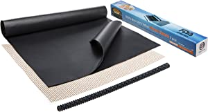 Large Thick Heavy Duty Non Stick Teflon Oven Liners - Oven Liner Pack of 2 and Grill Mesh Oven Mat 16