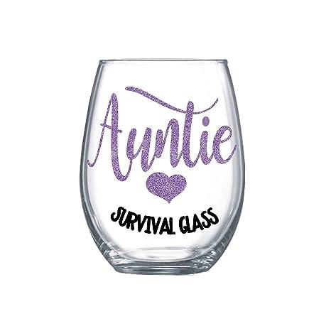Amazon.com: Regalo de cumpleaños para tía de sobrina copa de ...