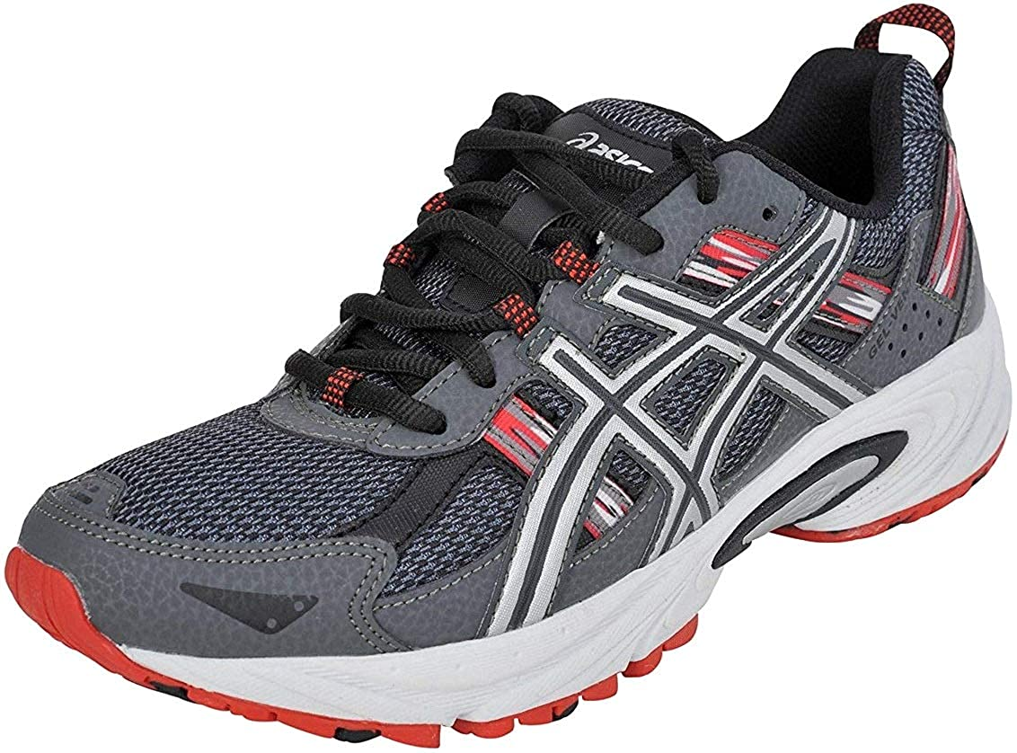 Castle Rock Silver Fiery Red ASICS Men's Gel Venture 5 Running shoes
