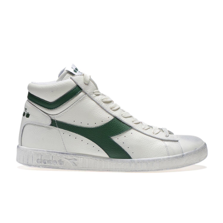 Blanc Cassé (Bianco Fogliame) Diadora Game L High Waxed, Chaussures de Gymnastique Mixte Adulte