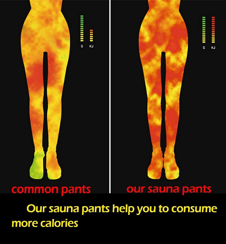 YILVV Weight loss pants Sauna Pants,Womens Slimming Pants Neoprene for fat,Hot Sweat Sauna Pants Capri Yoga Gym Fitness Burning