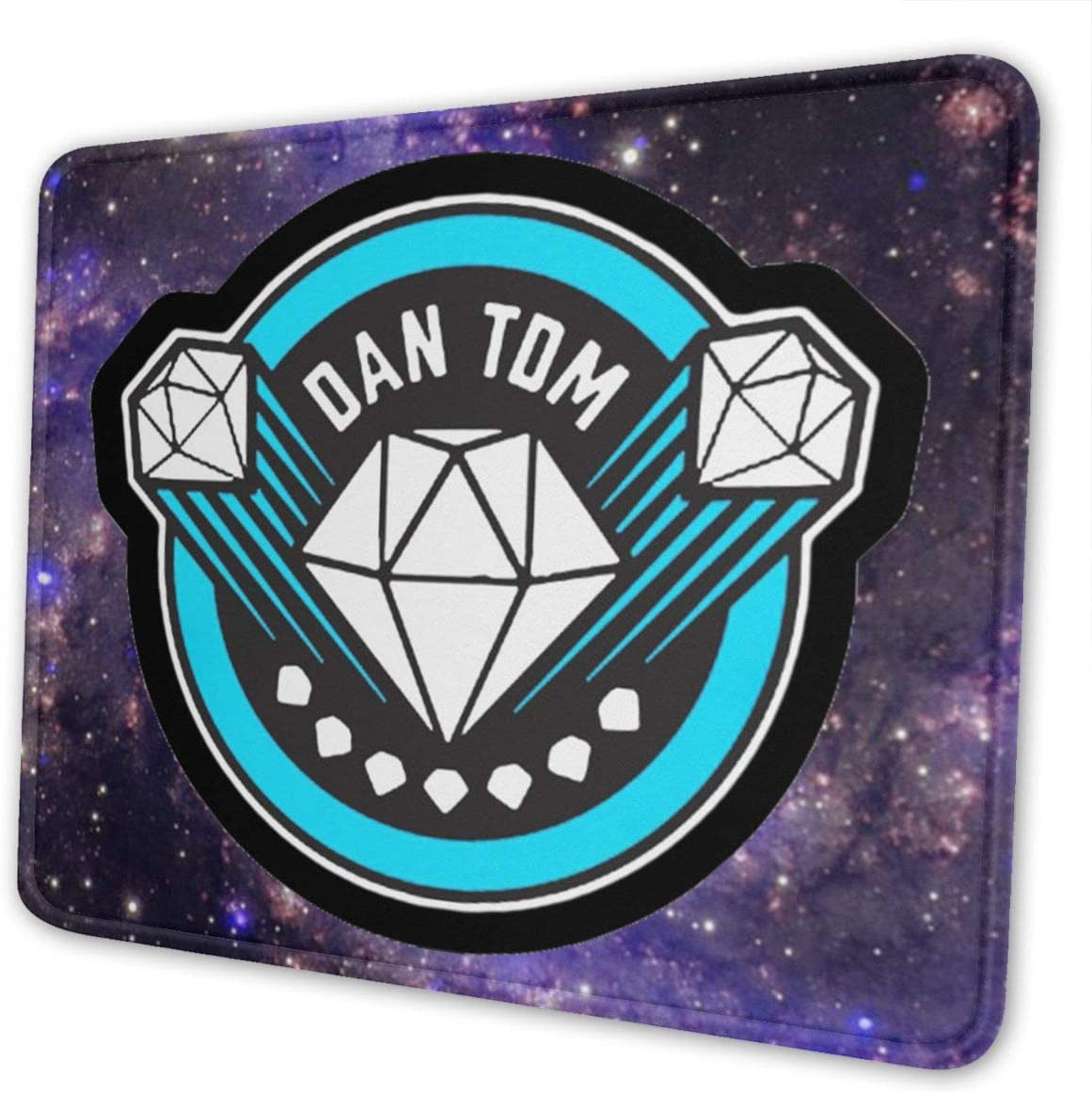 DanTDM Dan TDM Logo Personalized Computer Mouse Pad with Non-Slip Rubber Base Premium-Textured Stitched Edges Mouse Pads for Computers Laptop Office /& Home 10 X 12 Inch