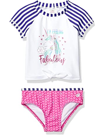 In Nice Toddler Kids Girl Cartoon Two-piece Swimwear Swimsuit Bathing Suit Swimsuit With Skirt Clothes Set Jan18 Fashionable Style;