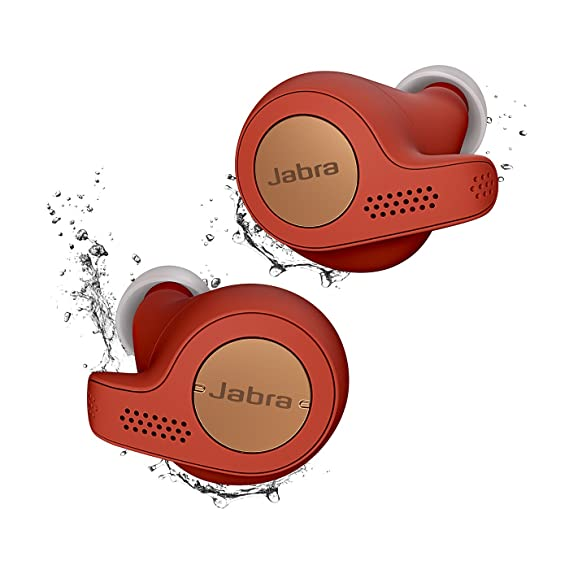 ec1fa0f85f9 Jabra Elite Active 65t Alexa Enabled True Wireless Sports Earbuds with  Charging Case - Copper Red