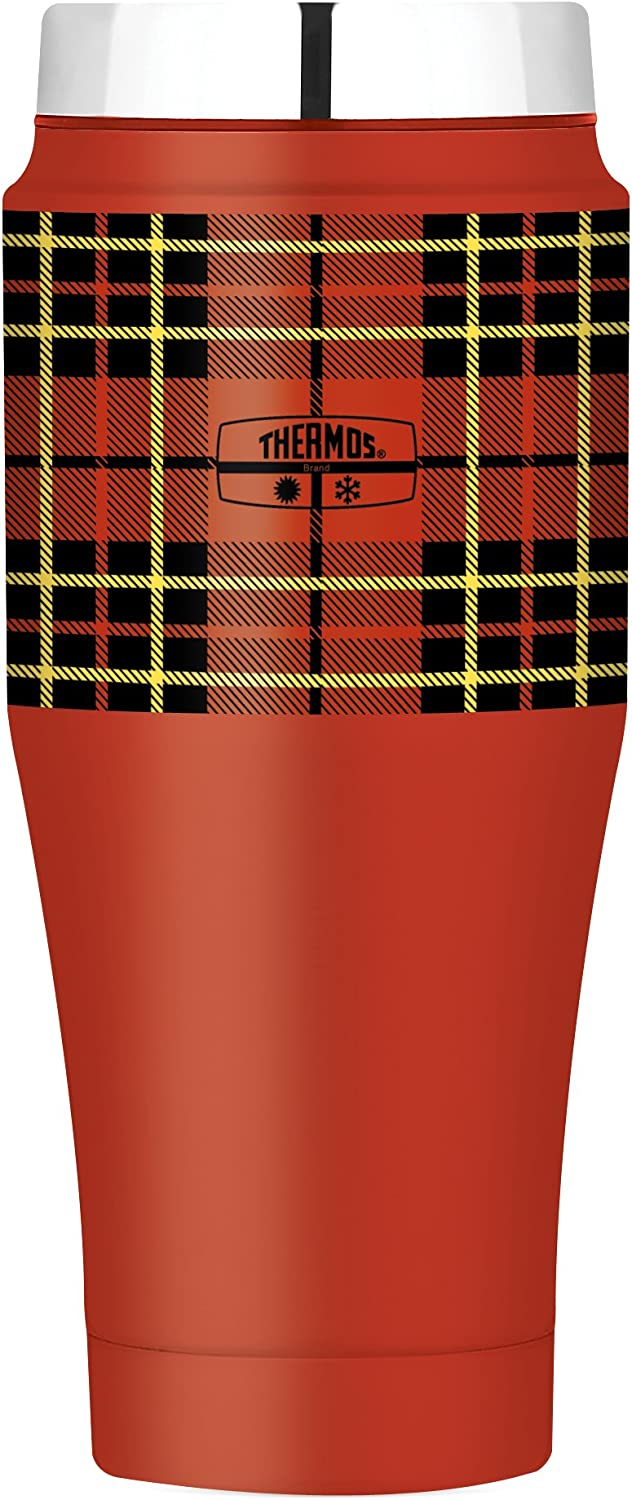 Thermos 16 Ounce Travel Tumbler, Red Plaid